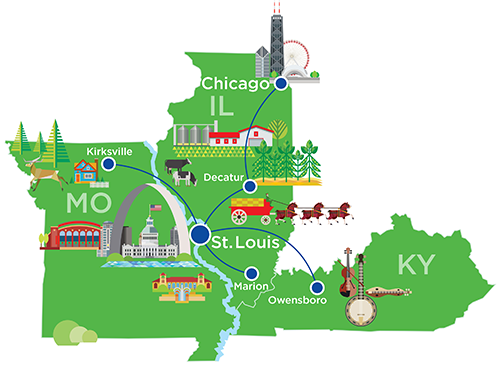 Cape Air Midwest   Flights from Hubs at St. Louis or Chicago Cape Air Route Map on