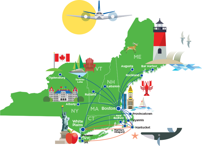 Cape Air Hyannis, MA   Flights to and from Hyannis Cape Air Route Map on